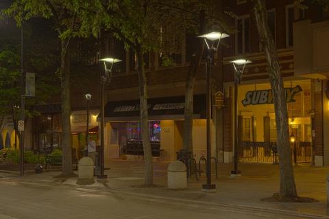 Hubbell Lighting S Leds Light Up Greenville S Main Street