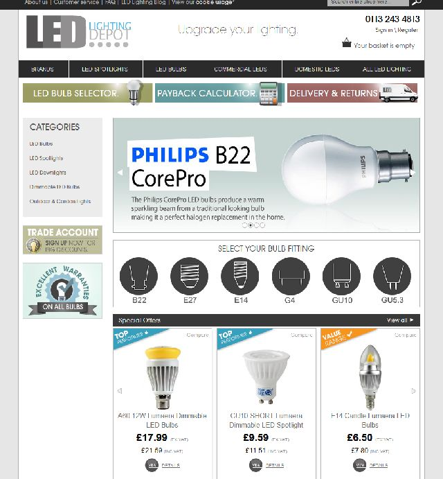 Led Lighting Depot Launches Unique Savings Calculator And Exclusive Bulb Brand Ledinside