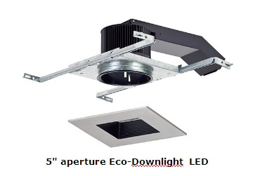 The Latest 5u201d Aperture Eco Downlight LED Is Offered In Remodel, New  Construction And IC Versions Featuring 38 System Watts That Deliver An  Astounding 2500 ...