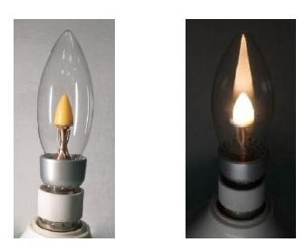 A 3D COB candle
