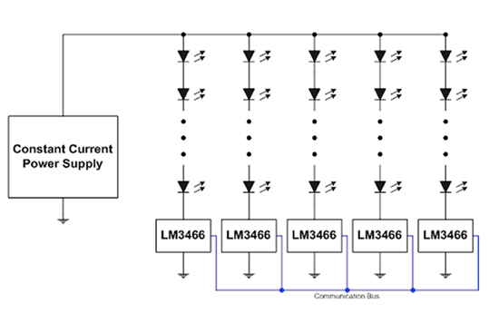 texas instruments multi string led lighting systems and top four lm3466 driver in a multi string led configuration ledinside texas instruments