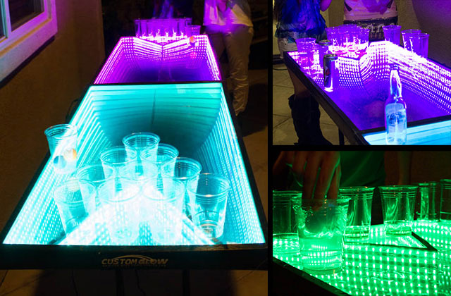 LED Ping Pong Game Table, Infinity Glow. (Photo Courtesy Of  LEDbeerpingpongtables.com.) Please See Bottom Of The Article For Video Of  The Table In Action.