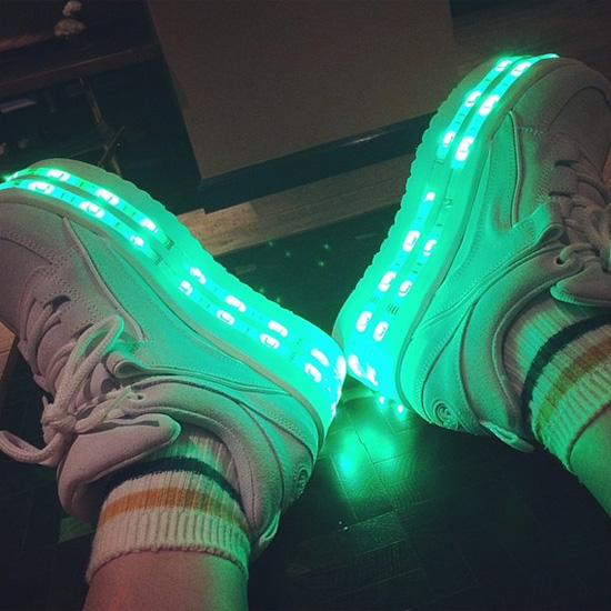 Remote Control LED Shoes Make You The Light Show, Look Awesome