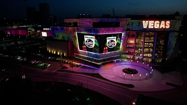 Philips Dazzles Moscow Vegas Crocus City Shopping Center