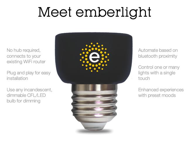 emberlight smart socket to challenge led smart light industry ledinside. Black Bedroom Furniture Sets. Home Design Ideas