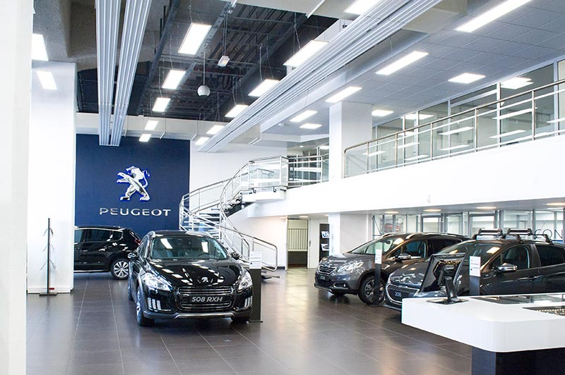 lucibel becomes a lighting supplier for psa peugeot citro n group car showrooms ledinside. Black Bedroom Furniture Sets. Home Design Ideas