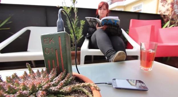 植物替手機充電