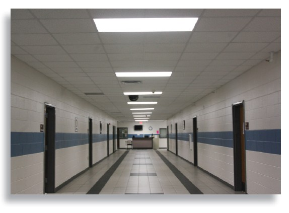 Approximately 400 T8 Fluorescent tube lighs were replaced with Forest Lighting T8 LED Linear L&s. (All Photo Courtesy of Forest Lighting) & Forest Lighting Slashes U.S. Schoolu0027s Energy Bill with T8 LED ...