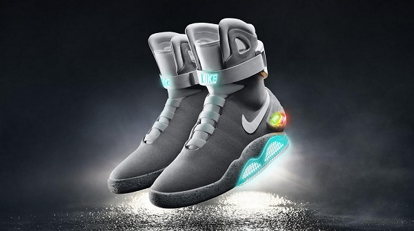 reputable site 4e59a ff66f Nike s Mag has fitted LED lights and featured self -lacing mechanism. (All  Photo Courtesy of Nike)