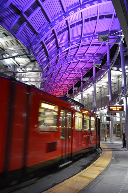 Lighting Designers Relit San Diego Trolley Station With