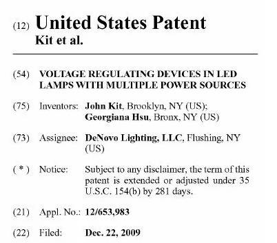 US LED T8 Tube Light Patent
