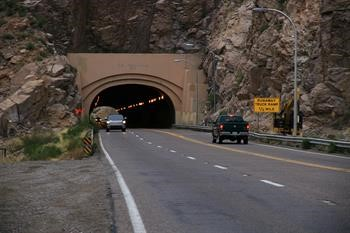 The Queen Creek Tunnel on US 60 east of Superior in Arizona U.S. is receiving LED lighting installations. (Photo courtesy of Arizona Transport Department) : arizona led lighting - www.canuckmediamonitor.org