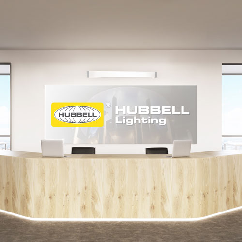 Hubbell Lighting front desk illuminated with Colombia Lighting LED luminaires. (All photos courtesy of Hubbell Lighting) : hubbell lighting led - azcodes.com