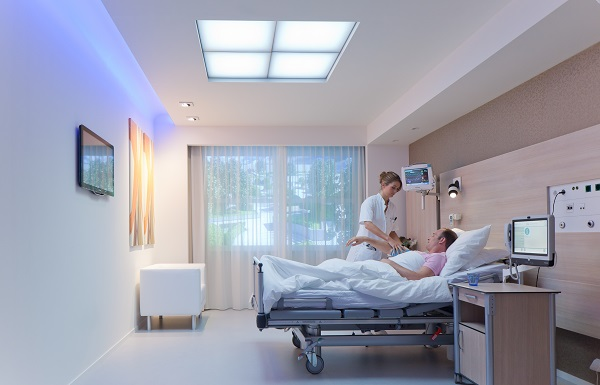 Philips Lighting Brightens Hospital Patient Rooms With