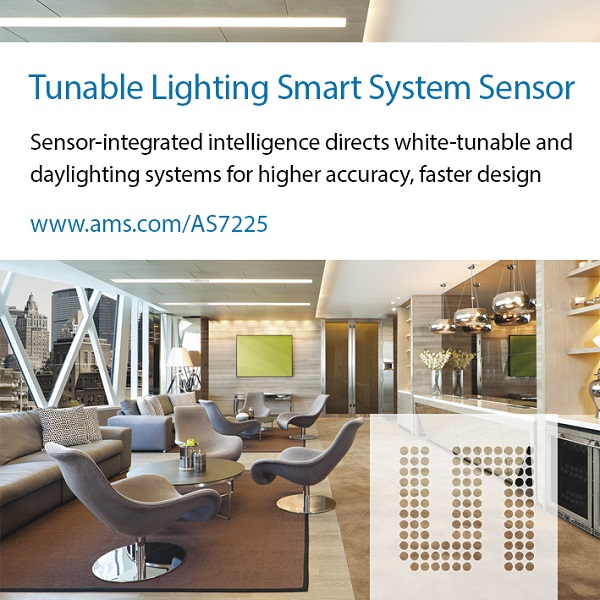 Ams Launches As7225 Tunable White Lighting Smart System
