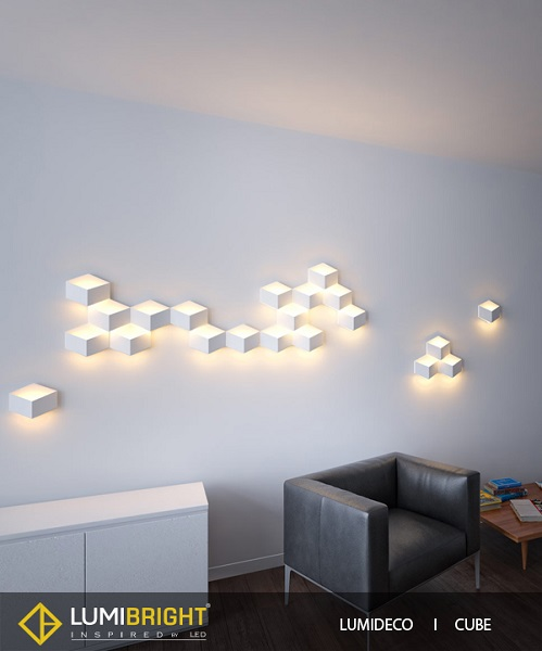 Lumideco wall lights lumideco range of creative wall lights for adding decor to walls ledinside - Add spark wall art picture lights ...