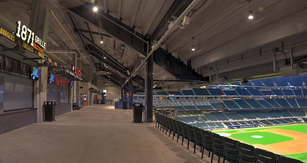 Uniform Light for New Baseball Stadium Concourse Provided