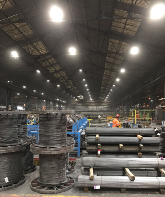 Commercial Lighting Hire: Energy Saving At Manufacturing Company With Aura LED
