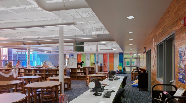 Kinder Ranch, an 87,300 square-foot elementary school, is the first in the Comal School District to feature a high performance lighting solution from Acuity Brands.