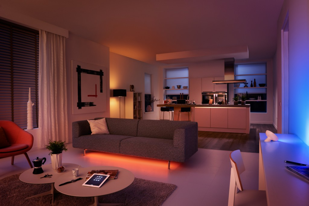 You can give your house a comfortable and romantic ambiance with Philips hue products.