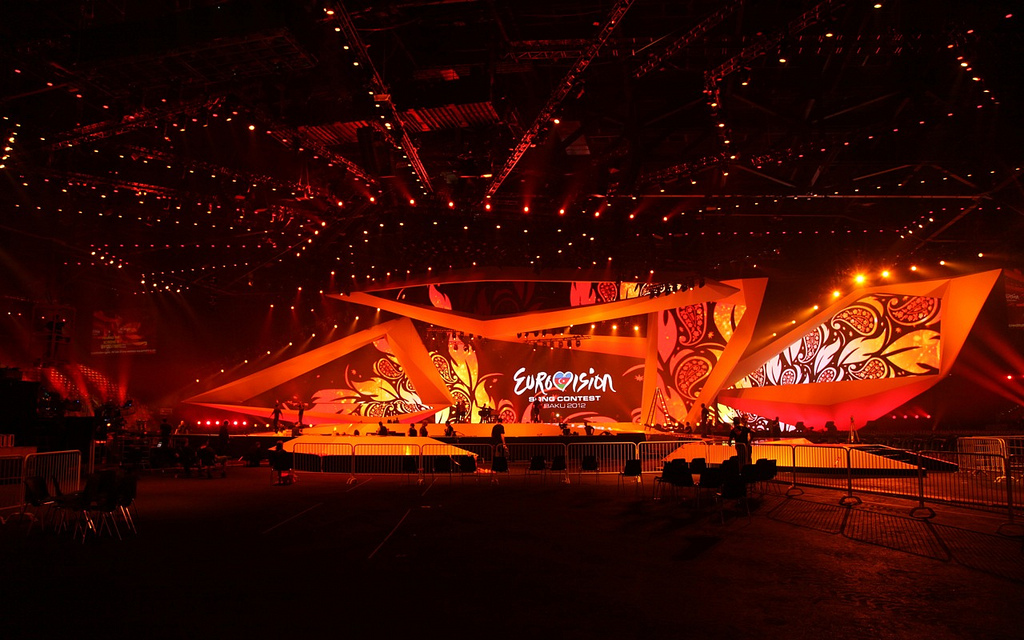The Eurovision Song Contest's stage. Photo Credit: Zeljko Joksimovic (Wikimedia Commons)