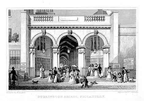 Burlington Arcade by Thomas Hosmer Shepherd (1827-28)