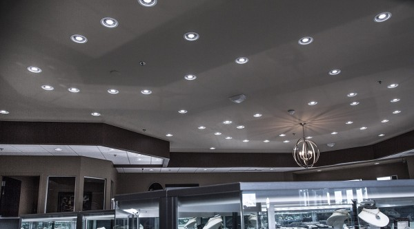 GE's new LED lamps also produce less heat than the old halogen bulbs—store managers have reported a noticeable decrease in cooling demand on HVAC units.