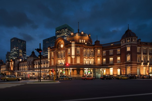 Tokyo Station with new lighting by LPA