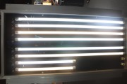 LED T8 tube lights, such as these displayed by Nex Innotec are very popular in Thailand. (LEDinside)