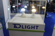 TD Light's LED bulbs displayed at the show. Bulbs were also found at most manufacturers booths. (LEDinside)