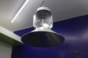 High bay LED lights similar to these by TD Lights were showcased by a lot of manufacturers. (LEDinside)