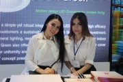 Vichukorn Enterprise show girls pose for a photo shot. (LEDinside)