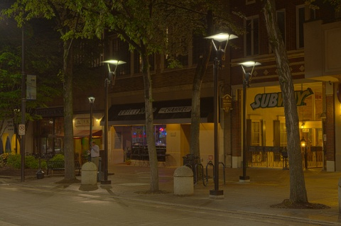 Hubbell lightings leds light up greenvilles main street ledinside all of the new led lighting fixtures from hubbell lighting take advantage of the newest solid state lighting technology and offer significantly improved mozeypictures Gallery