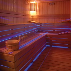 Creative Use Of Rgb Led Strip Lights In Steam Room