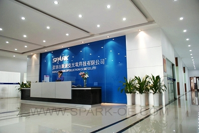 Spark Optoelectronics Reception Desk Is Lit Up With Leds Photos Credits