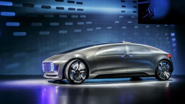 Mercedes Benz Futuristic Self Driving Car Communicates