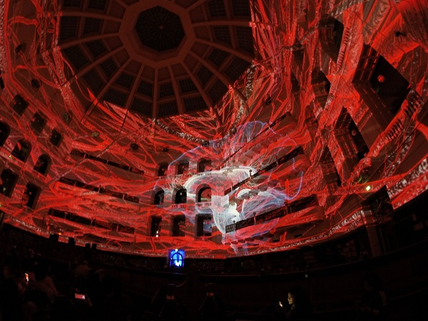 Ideation at White Night Melbourne 2016 paid tribute to this important room by giving it a virtual makeover in the form of illuminated 360-degree artwork. & TDC Lights up Australia-based Library with Projection Mapping ... azcodes.com