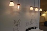 SEEDDESIGN showcased their simplistic and elegant lamps. A Taiwan based company, SEEDDESIGN uses traditional lighting to give their lamps a soft warm glow.