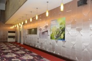 A corner at the conference hall showing forum sponsor's posters. (LEDinside)
