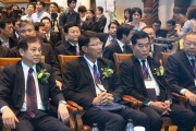 Governor of PEA Namchai Lorwattanatrakul (first left) and other honored guests at the opening. (LEDinside)