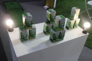 PEA ENCOM, a business arm of PEA, displays LED bulbs targeting the consumer market. (LEDinside)